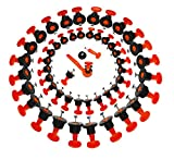 HETOOSHI Juego de 50 Niveladores de Azulejos,Nivelador de azulejos con llave especial,Sistema de Nivelación de Azulejos Reutilizable Espaciador Nivelador de Baldosas Antideslizantes (50PCS)