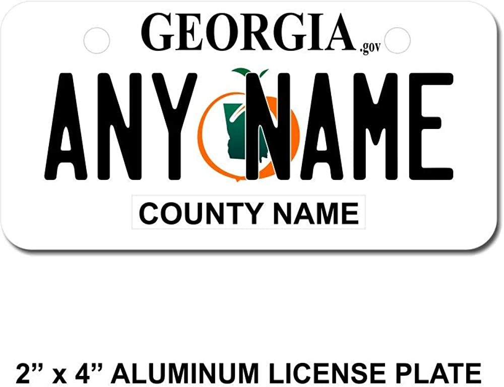 TEAMLOGO Personalized Don't miss the campaign Georgia License Plate - for Regular dealer Kid's Bi Sizes