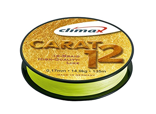 Climax 'Multifilament Braided Line Carat 12135m–Gelb–Yellow, 0.17mm