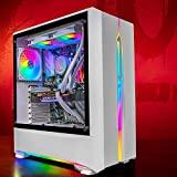 GameMachines Onyx - RGB Gaming PC - Refrigeración por agua - Intel® Core™ i7 10700F - NVIDIA GeForce RTX 2060-500GB SSD - Disco duro de 2 TB - 16GB DDR4 - WLAN - Windows 10 Pro