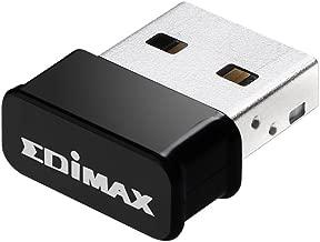 EW-7822ULC, Edimax AC1200 Wi-Fi USB Adapter Supports Web 2, MU-Mimo, Nano Size, for Windows, Mac OS, Supports Computer/PC/Laptop/Desktop Windows XP/7/8/1/10/Vista, Mac OS 10.910.14, Linux