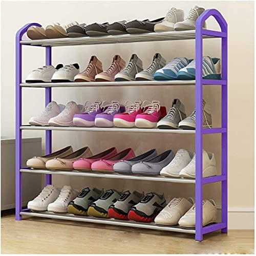 Carrera de Zapatos Ahorro de Zapatos Torre de zapatería Organizador de Almacenamiento Púrpura Holding 8-20 Par de Zapatos (Color: Púrpura, Tamaño: 75 cm)