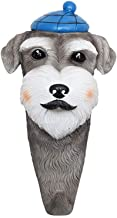 CKH Cute Personality American Style Schnauzer Puppy Decorative Hook Creative Entrance Porch Hanging Key Storage Coat Rack Wall Hanging Wall Hook