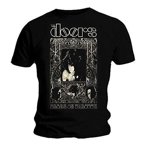 Offizielles T-Shirt The Doors Jim Morrison Psych Nouveau Gr. M, Schwarz