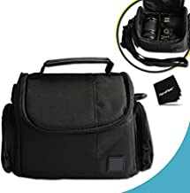 Well Padded Fitted Medium DSLR Camera Case Bag w/ Zippered Pockets and Accessory Compartments for Nikon D750, D7200, D7100, D7000, D810, D810A, D800, D610, D600, 1 V1, D4, D4S, D3, D3X, D3S, D3300, D3200, D3100, D5500, D5300, D5200, D5100 DSLR Cameras