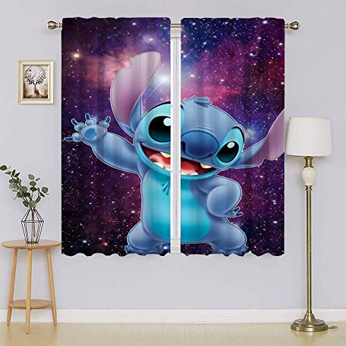 The Adventures of Lilo & Stitch - Cortina opaca para ventana, bajo consumo, para sala de estar (63 x 45 pulgadas)