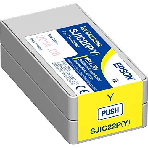 Epson SJIC22P Cartuccia d'Inchiostro Originale, Colore Giallo