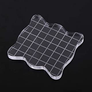 Stamp Block with Grid Lines Acrylic Clear Stamping Block Tool Essential Stamping Tool for Scrapbooking Crafts Making