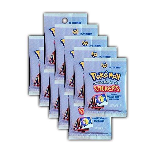 Unbekannt Pokemon Sticker Serie 1 - Artbox 10 Booster Packungen 100 Sticker