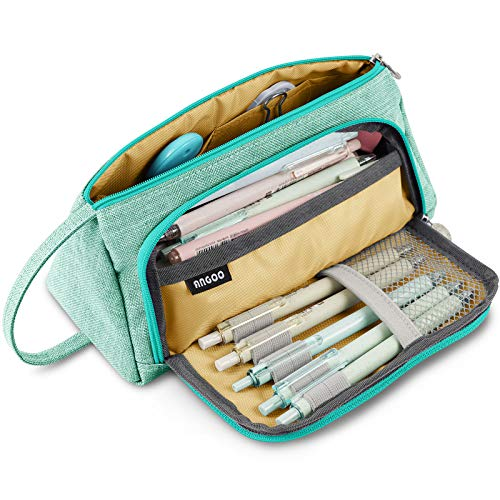 Product Image of the Big Capacity Pencil Case Bag Pen Pouch Holder Large Storage Marker Stationery...