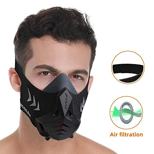 FDBRO Sports Mask Pro Workout Mask Fitness, Running,Resistencia, Cardio,...