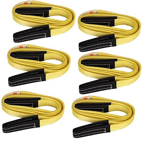 XSTRAP 2PK 8FT Lift Sling Web Strap/Wear Guard End (6pk 1''x8')