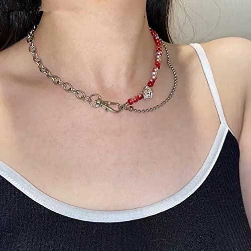 Collar Sense of Retro New Blood Collar De Cadena Superpuesto Lindo Lazo De Pelo Elástico En Forma De Mariposa Regalo Parejas Y Amigos