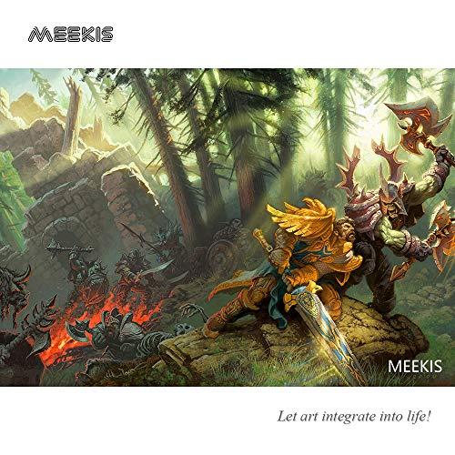 MEEKIS Zorn der World of Warcraft Pandaren Lich König Malen nach Zahlen Kits Pinsel Acrylpigment 40x50cm Kein Rahmen