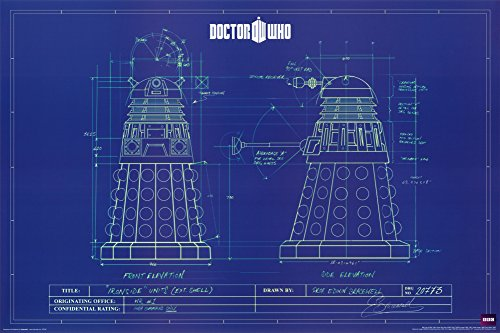 Doctor Who - Dalek Blue Prints Poster 36 x 24in