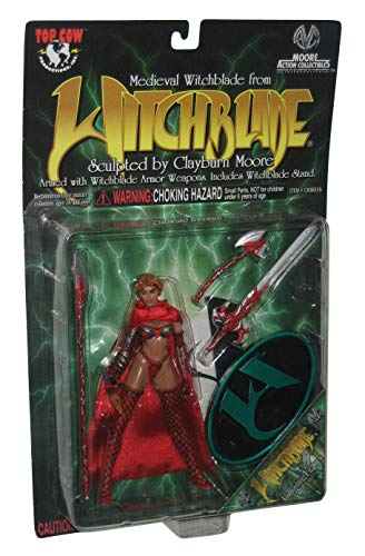 1998 - Top Cow / Moore Action Collectibles - Sara Pezzini as Witchblade Action Figure - Armed w/ Witchblade Armor Power Staff - With Stand - Sculpted by Clayburn Moore - Series 1 - Limited Edition - Collectible