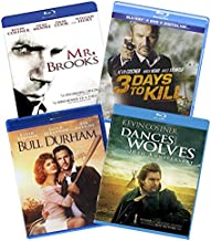 Kevin Costner 4-Film Blu-ray Collection: Dances with Wolves / Bull Durham / 3 Days to Kill / Mr. Brooks [Bluray]