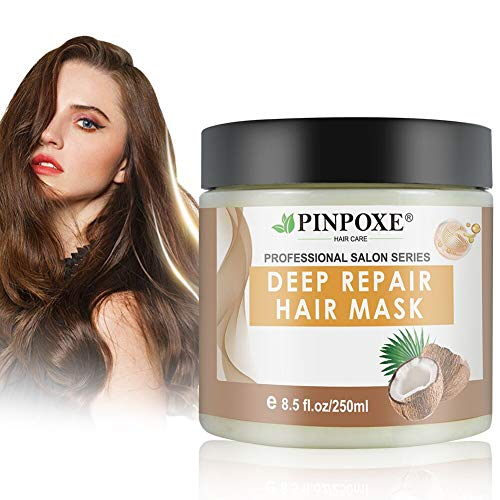 Haarmaske, Hair Mask, Conditioner Haarkur, Argan oil & Keratin Haarkuren strapaziertes und trockenes Haare, Hair Mask für gefärbte Haarpflege & Haarglättung, 250 ml