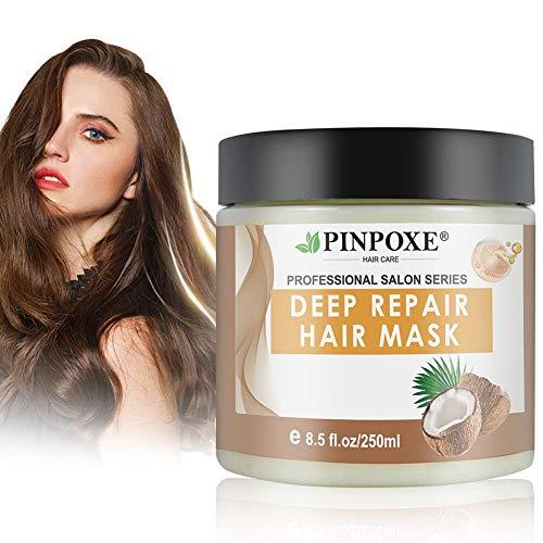 Masque Capillaire, Masque capillaire Traitement, Hair Mask, Masque cheveux secs et abimés, avec Huile Naturelle Pure Keratin et d'argan et de Noix de Coco pour Tous les Types de Cheveux