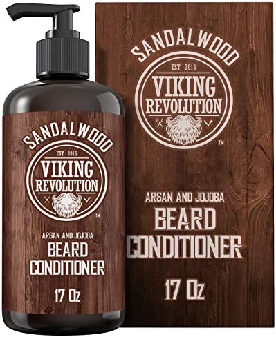 Beard Conditioner w Argan Jojoba Oils Softens Strengthens Sandalwood Scent Beard Conditioner product image