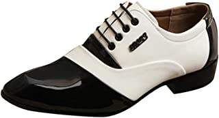 HoSayLike Zapatos De Cuero De Los Hombres Casual CóModo Negocios Ropa Formal Puntiagudo Ata para Arriba Zapatos De Traje Z...
