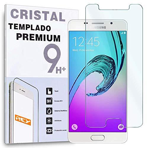 REY Protector de Pantalla para Samsung Galaxy A5 2016 Cristal Vidrio Templado...