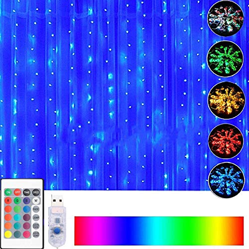 16 Color Changing Curtain Lights with Remote & ...
