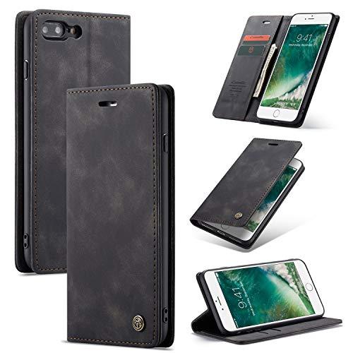 liyuzhu Para la Cubierta Protectora de iPhone 8 Plus/iPhone 7 Plus, [Función Base] Cubierta Protectora de la Cubierta Protectora de la Billetera de Cuero PU de Lujo, con [Ranura para la Tarjeta] [co