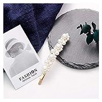 ヘアピン 真珠のヘアグリップのエレガントな女性のヘアクリップのための女の子プリンセスレトロなゴールドスライバーピン銃のヘアクリップヘッドドレスヘッドウェアの髪のピン (Color : 8)