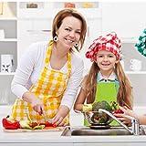 Malschürze Kinder, 2 Stück Kinder Schürzen Set mit Taschen, Kochschürze Kinder Jungen Mädchen, Verstellbare Kleinkind Kochschürze für Basteln Malen Backen Kochen, Grün und Gelb (8-12 Jahre) - 7