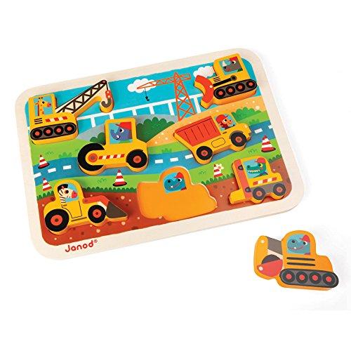 Janod - J07077 - Chunky Puzzle 7 pièces - BTP (bois)
