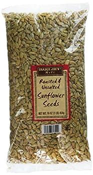 2 Pack Trader Joe s Roasted & Unsalted Sunflower Seeds 16 oz NET WT - SET OF 2