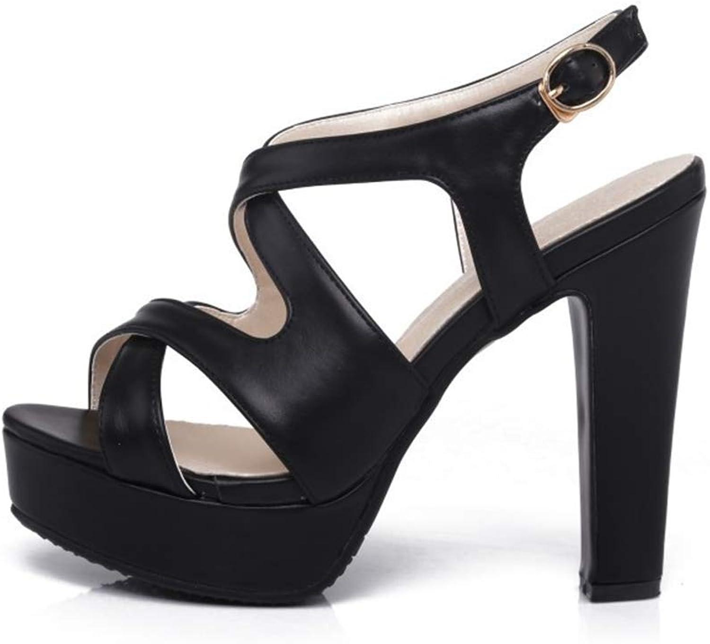 Kvinnors högklackade högklackade högklackade skor för kvinnor Super hög klack Sandals Tjock med vattentät plattformspackel med romerska skor 37 -46  de senaste modellerna
