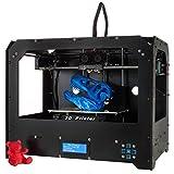 Win-Tinten Schwarz 3D-Drucker Direkt Losdrucken! + Software + 1 Rolle ABS/PLA Filament + Dual Extruder + beheizbare Bauplattform + Zubehör
