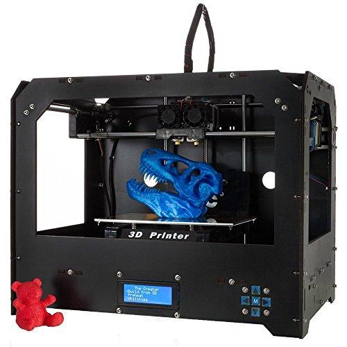 Nuova Stampante Desktop 3D Dual Estrusori Stampanti 3D (Nero)