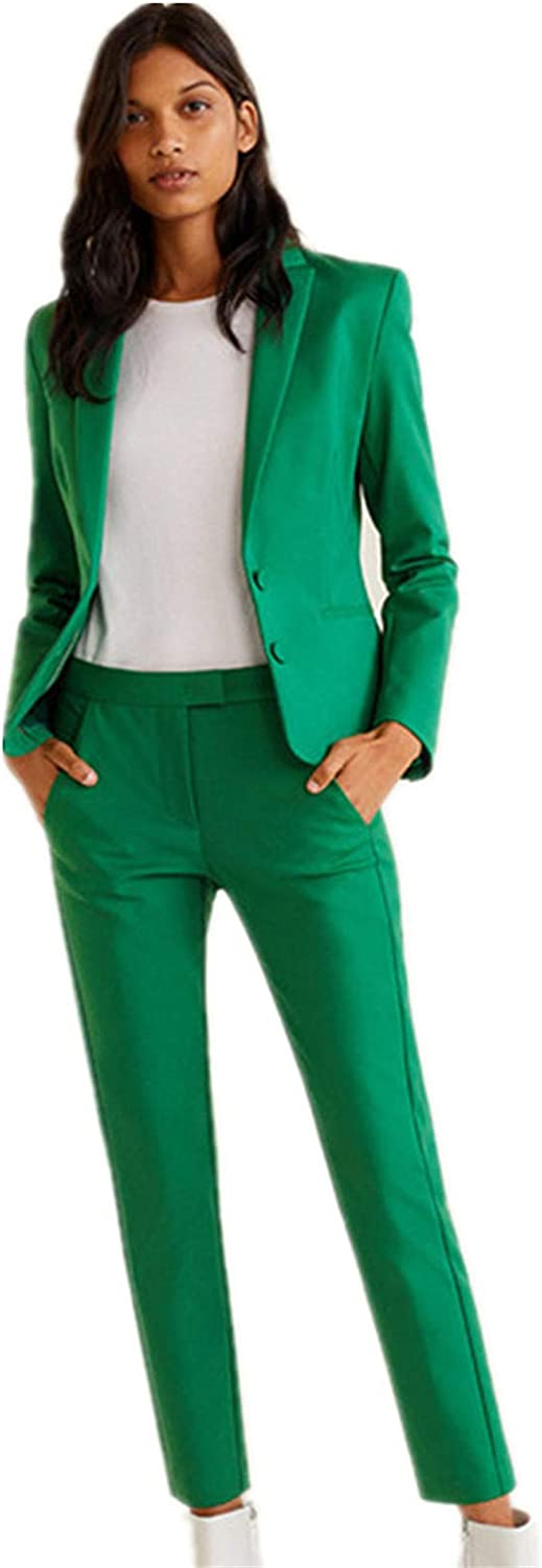 One Button Suits for Women Blazer Set Ladies Office Suits Wedding Tuxedos Party Wear Suits