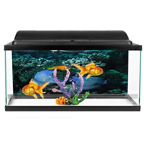 SALUTUYA Aquarium Dekoration Meeresboden Gelb Fisch Muster PVC Pasteable Fish Tanks Wallpaper für Fish Tanks Landschaft Verschiedene Größen für Fish Tanks(122 * 50cm)