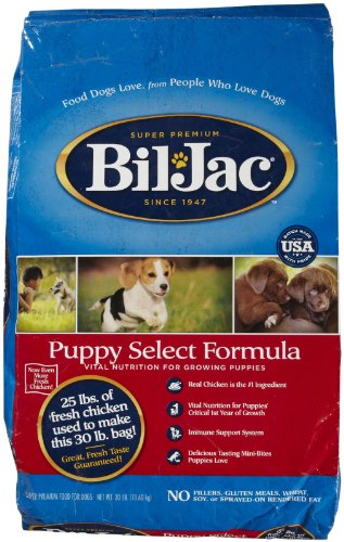 Bil-Jac 319005 Puppy Dry Food, 30-Pound