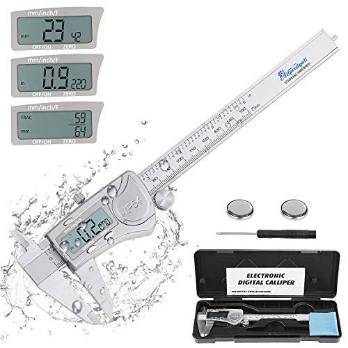 Allprettyall Digital Caliper Micrometer Measuring Tool - 6 inch Stainless Steel Electronic Vernier...