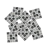 LIOOBO Mosaic Tile Sticker 3D Removable Self Adhesive Waterproof Anti Oil Mosaic Wall Sticker Wallpaper for Kitchen Bathroom 15 Pcs (Style 1)