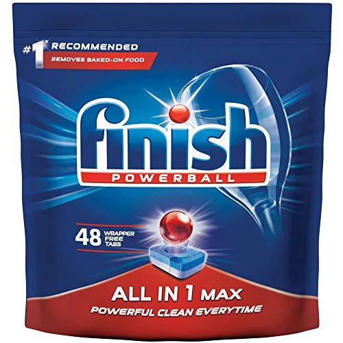 Finish Dishwasher All in One Max Powerball – 48 Tablets (Regular)