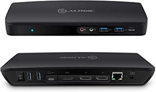 ALOGIC Triple Display Universal Hybrid Docking Station – USB- C & USB 3.0 with 4K & Power Delivery; 1 x USB-A 2.0, 1 x US...