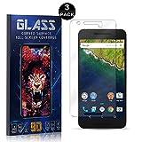 Bear Village® Protector de Pantalla Huawei Nexus 6P, 9H Cristal Templado, Anti-Golpe, Transparente Protector de Pantalla para Huawei Nexus 6P, 3 Unidades
