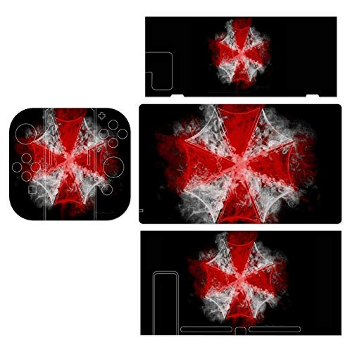 Umbrella Corp Smoke Resident Evil Switch series game console stickers, cool skin protection film set, precise hole buttons, matte texture, prevent scratches