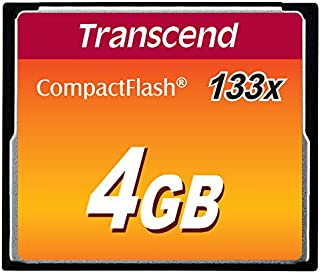 Transcend 4GB CF CARD (133X、 TYPE I ) TS4GCF133