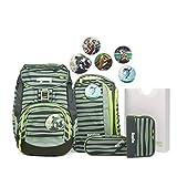 Ergobag Pack Super NinBär, ergonomischer Schulrucksack, Set 6-teilig, 20 Liter, 1.100 g, Grün