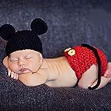Wilk Neugeborene Fotografie Props Jungen Cap Häkelarbeitknit Kostüm Outfits Hut Neugeborenes...