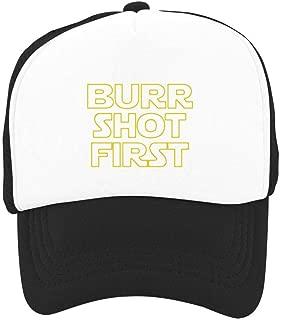 Kids Baseball Cap Burr Shot First Colorful Snapback Mesh Hats Trucker Cap for Boys Girls