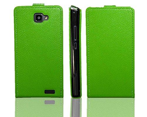 caseroxx Flip Cover für Archos 50 Neon, Tasche (Flip Cover in grün)