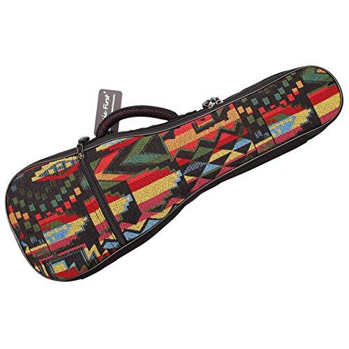 Music First The Native Custodia per ukulele in cotone tessuto, stile vintage Fit fir 26~27 inch Tenor Ukulele THE NATIVE